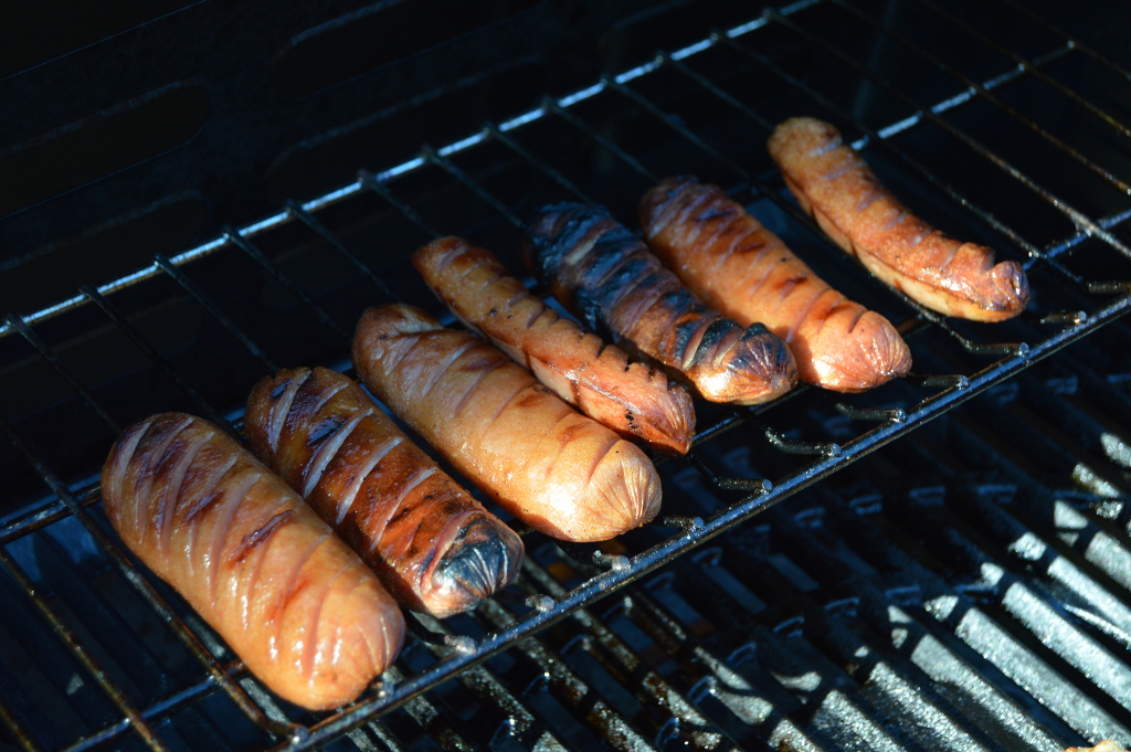 Sausages in the grill