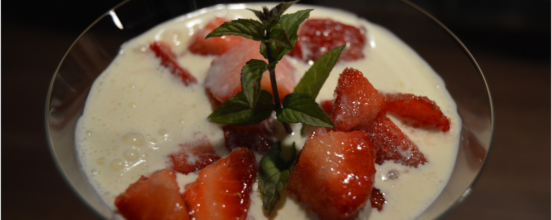 Norwegian Strawberries with heavy cream